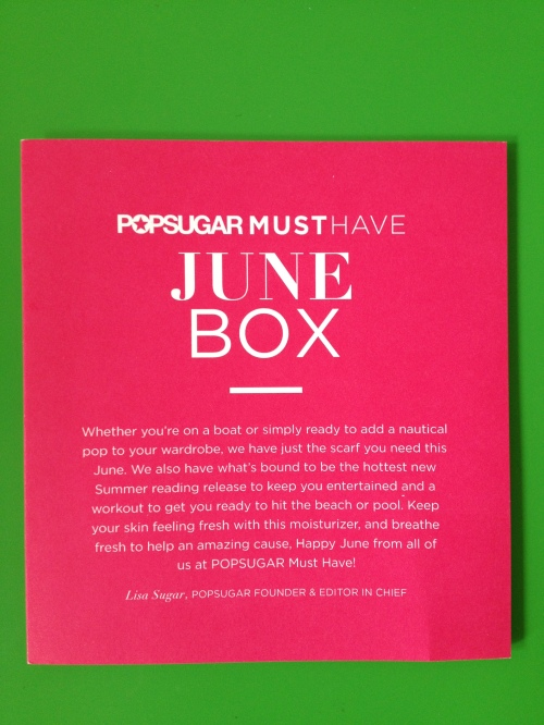June 2013 pop sugar must have box
